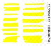 vector highlighter brush set.... | Shutterstock .eps vector #1168002772