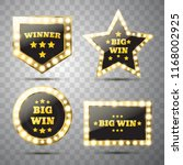 set of different big win... | Shutterstock .eps vector #1168002925