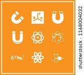physics icon. 9 physics vector... | Shutterstock .eps vector #1168004032