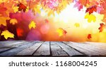autumn colorful background with ... | Shutterstock . vector #1168004245