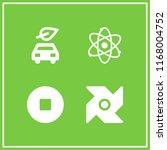 power icon. 4 power vector set. ... | Shutterstock .eps vector #1168004752
