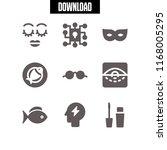 eye icon. 9 eye vector set.... | Shutterstock .eps vector #1168005295