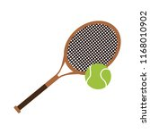 tennis racket equipment | Shutterstock .eps vector #1168010902