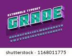 extrabold 3d display font... | Shutterstock .eps vector #1168011775