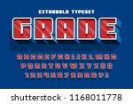extrabold 3d display font... | Shutterstock .eps vector #1168011778