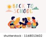 back to school lettering vector ... | Shutterstock .eps vector #1168013602