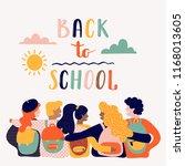 back to school lettering vector ... | Shutterstock .eps vector #1168013605