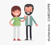 cute couples with isolated... | Shutterstock .eps vector #1168016998