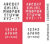 vector set of alphabet letters  ... | Shutterstock .eps vector #1168024945