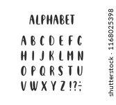 vector set of alphabet letters... | Shutterstock .eps vector #1168025398