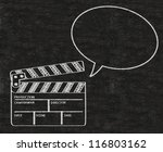 clapper board with talk bubble... | Shutterstock . vector #116803162