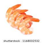 red cooked tiger shrimps... | Shutterstock . vector #1168032532
