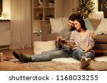 hygge  leisure and people... | Shutterstock . vector #1168033255