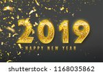 2019 happy new year vector... | Shutterstock .eps vector #1168035862