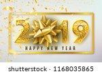 2019 happy new year vector... | Shutterstock .eps vector #1168035865