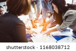 business team hands at working... | Shutterstock . vector #1168038712