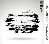black brush stroke and texture. ... | Shutterstock .eps vector #1168042408