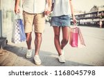 couple in shopping. close up... | Shutterstock . vector #1168045798