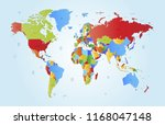 color world map vector | Shutterstock .eps vector #1168047148