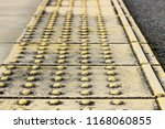 the grunge dirty footpath with... | Shutterstock . vector #1168060855
