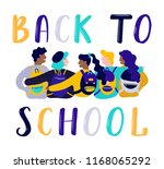 back to school lettering vector ... | Shutterstock .eps vector #1168065292