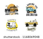 vintage surfing graphics and... | Shutterstock .eps vector #1168069048