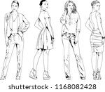 vector drawings on the theme of ... | Shutterstock .eps vector #1168082428