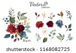 set of floral branch. flower... | Shutterstock .eps vector #1168082725
