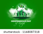 vector illustration. brazilian... | Shutterstock .eps vector #1168087318