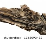Driftwood aged wood over white...