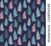 fern frond herbs  tropical... | Shutterstock .eps vector #1168096168