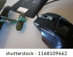 keyboard and mouse to control... | Shutterstock . vector #1168109662