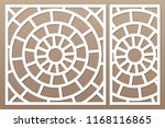 decorative card set for cutting ... | Shutterstock .eps vector #1168116865