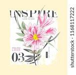 typography slogan with flower...   Shutterstock .eps vector #1168117222