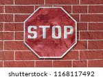 traffic sign of stop of... | Shutterstock . vector #1168117492