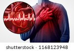 human heart attack pain as an... | Shutterstock . vector #1168123948