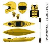 kayaking equipment and... | Shutterstock .eps vector #1168131478