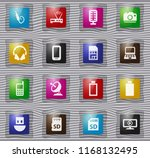 hi tech vector glass icons for... | Shutterstock .eps vector #1168132495