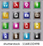 hi tech vector glass icons for... | Shutterstock .eps vector #1168132498