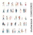 flat people big vector set.... | Shutterstock .eps vector #1168132822