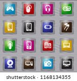 gadget vector glass icons for... | Shutterstock .eps vector #1168134355