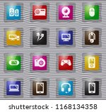 gadget vector glass icons for... | Shutterstock .eps vector #1168134358