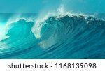 close up  glimmering turquoise... | Shutterstock . vector #1168139098