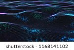 abstract glowing virtual neural ... | Shutterstock . vector #1168141102