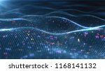 abstract glowing virtual neural ... | Shutterstock . vector #1168141132
