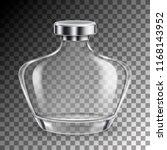 perfume empty glass bottle in... | Shutterstock .eps vector #1168143952
