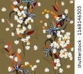 botanical motifs. isolated... | Shutterstock .eps vector #1168146505