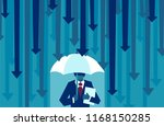 vector of a business man with... | Shutterstock .eps vector #1168150285