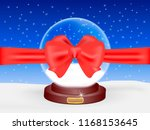 snow ball with red ribbon and... | Shutterstock .eps vector #1168153645