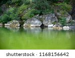 rocky coast. a stony cliff. a... | Shutterstock . vector #1168156642